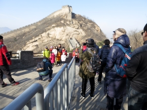 Myself (far right), at the Great Wall of China
