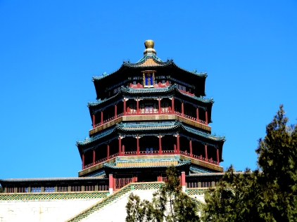 A temple building in Yiheyuan.